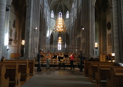 Probe im Dom in Uppsala