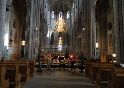 Probe im Dom in Uppsala