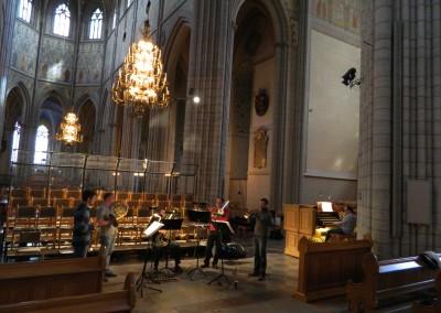 Probe im Dom in Uppsala mit Florian benfer an der orgel